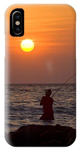 Fishing Lido Beach IPhone Case