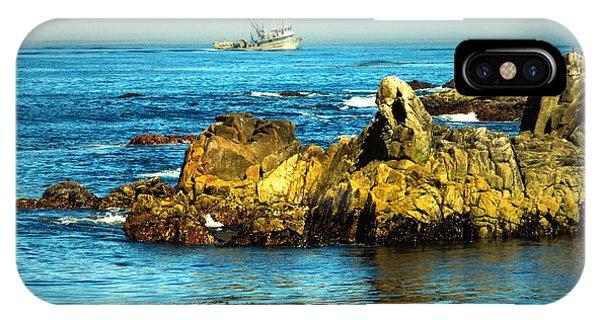 Fishing Monterey Bay Ca IPhone Case
