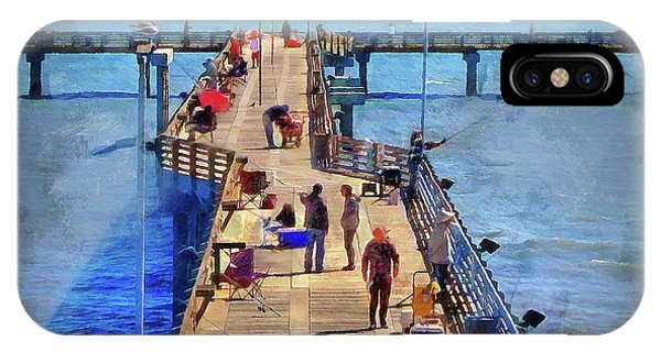 Fishing Off Galvaston Pier IPhone Case