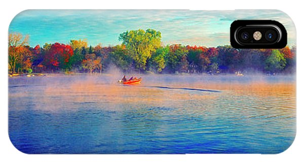 Fishing On Crystal Lake, Il., Sport, Fall IPhone Case