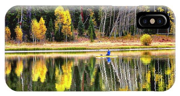 Fishing On Dream Lake Colorado IPhone Case
