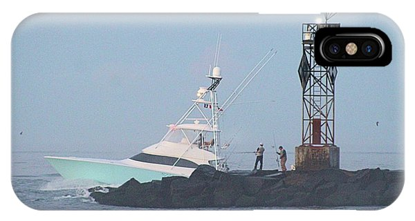 IPhone Case featuring the photograph Fishing On The Inlet Jetty by Robert Banach