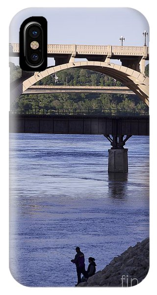 Fishing On The Mississippi River IPhone Case