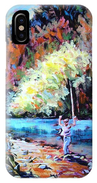 Fishing Painting Catch Of The Day IPhone Case
