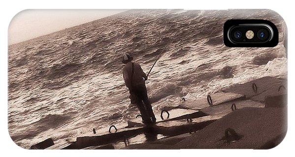 Men Fishing, Alexandria, Egypt IPhone Case