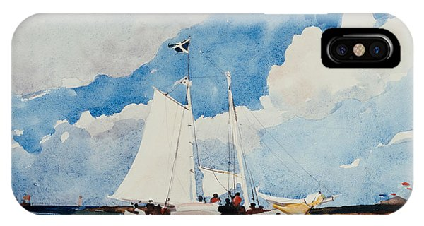 Bahamas iPhone Case - Fishing Schooner In Nassau by Winslow Homer