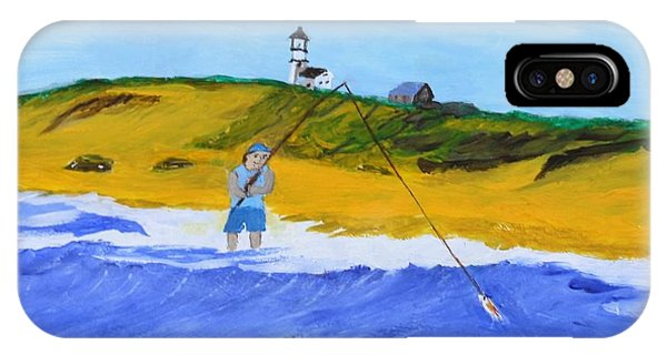 Fishing Under Highland Light IPhone Case