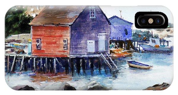Pylon iPhone Case - Fishing Village by Carlos Herrera