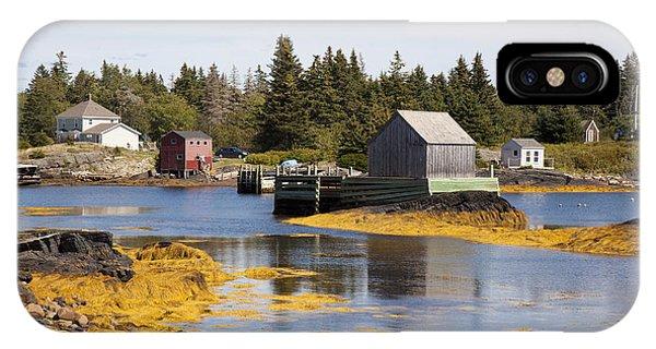 Fishing Village In Nova Scotia IPhone Case