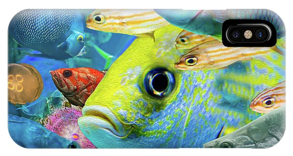 Fishy Collage 02 IPhone Case