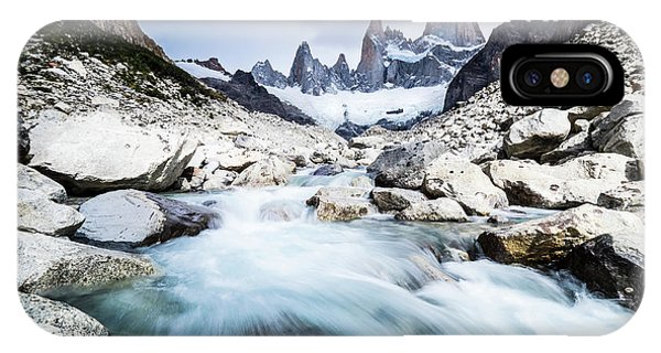 Fitz Roy On A Cloudy Day  IPhone Case