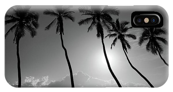 IPhone Case featuring the photograph Five Coconut Palms by Pierre Leclerc Photography