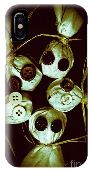 Or iPhone Case - Five Halloween Dolls With Button Eyes by Jorgo Photography - Wall Art Gallery