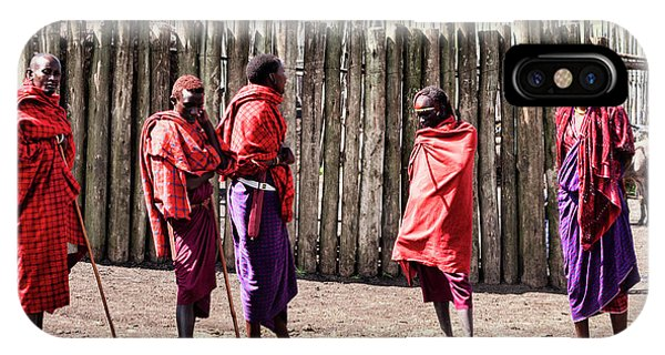 Five Maasai Warriors IPhone Case