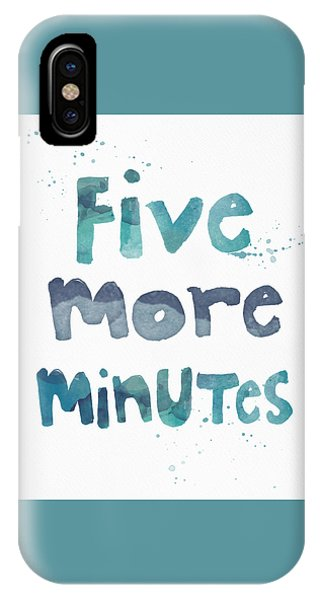 Time iPhone Case - Five More Minutes by Linda Woods