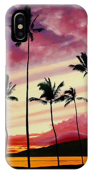 Hawaiian Sunset iPhone Case - Five Palms Maui Hawaii by Pierre Leclerc Photography