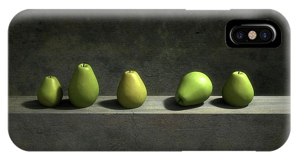 Green iPhone Case - Five Pears by Cynthia Decker