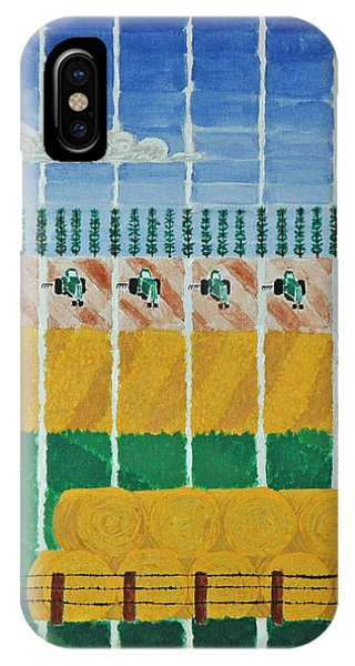 Five Tractors IPhone Case