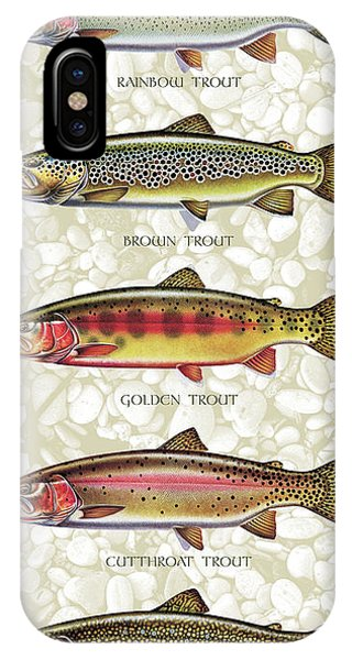 Trout iPhone Case - Five Trout Panel by JQ Licensing