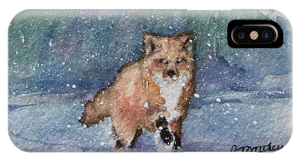 Fox In Snow IPhone Case