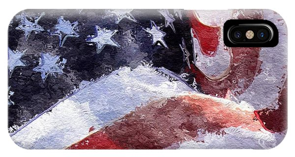IPhone Case featuring the painting Flag by Mark Taylor