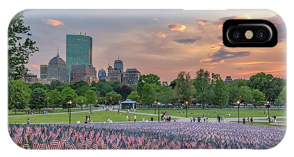 Flag Sunset On Boston Common IPhone Case