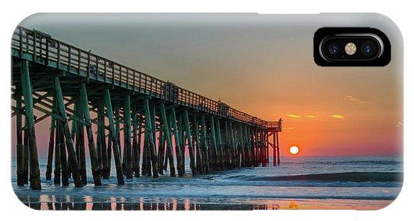 Flagler Pier Sunrise IPhone Case