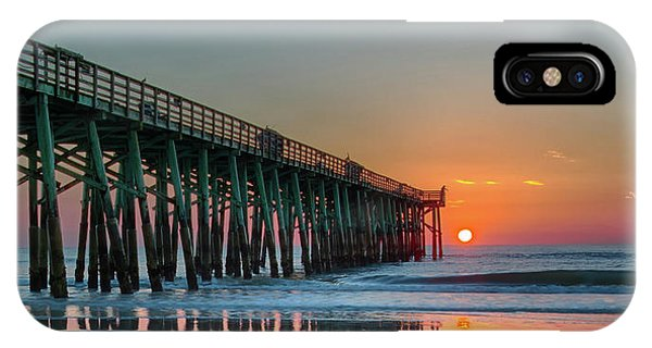 Flagler Pier Sunrise IPhone Case