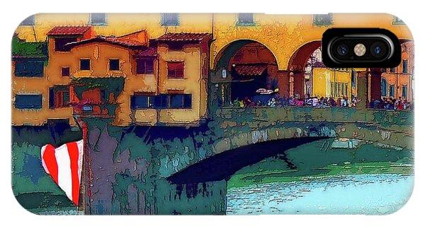 Flags At Ponte Vecchio Bridge IPhone Case
