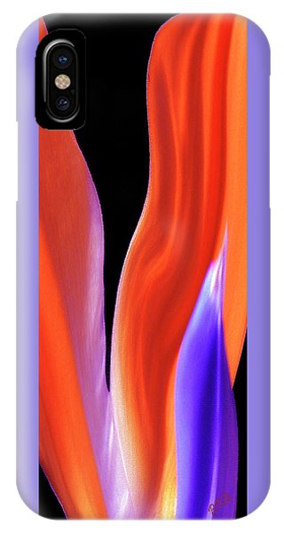 Flame - Bird Of Paradise   IPhone Case