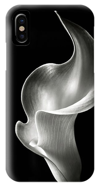 Floral iPhone Case - Flame Calla Lily In Black And White by Endre Balogh