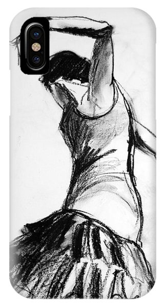 Spin iPhone Case - Flamenco Sketch 2 by Mona Edulesco