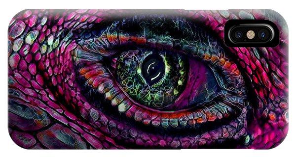 Flaming Dragons Eye IPhone Case