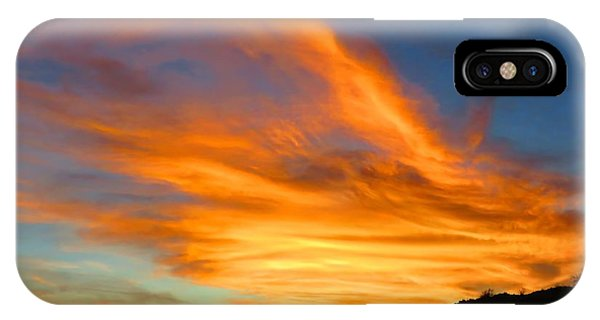 Flaming Hand Sunset IPhone Case