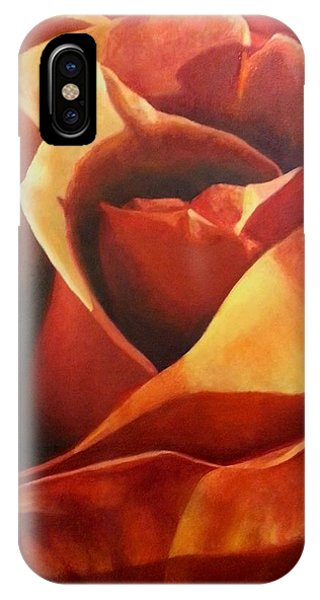Flaming Rose IPhone Case