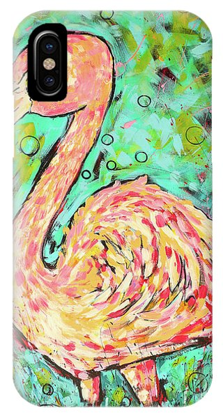 iPhone Case - Flamingo by Arrin Burgand