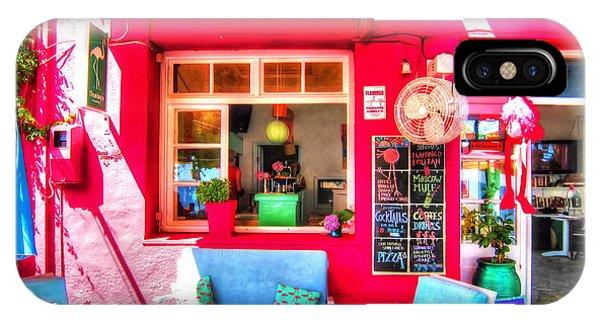 Flamingo Beach Bar IPhone Case