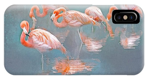 Flamingo Blues IPhone Case
