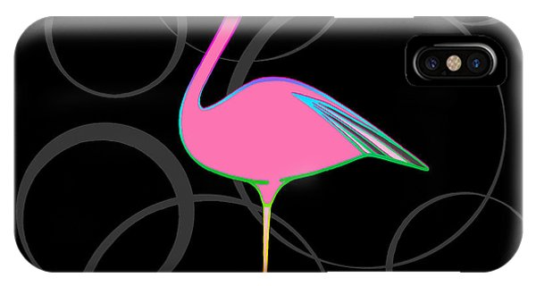 Flamingo Bubbles No 1 IPhone Case