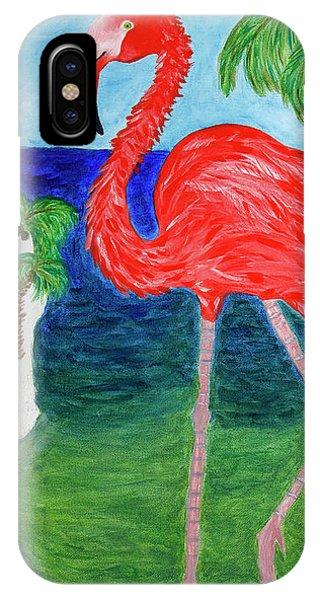 Flamingo Flash IPhone Case