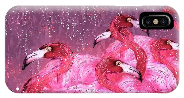 Flamingo Frenzy IPhone Case