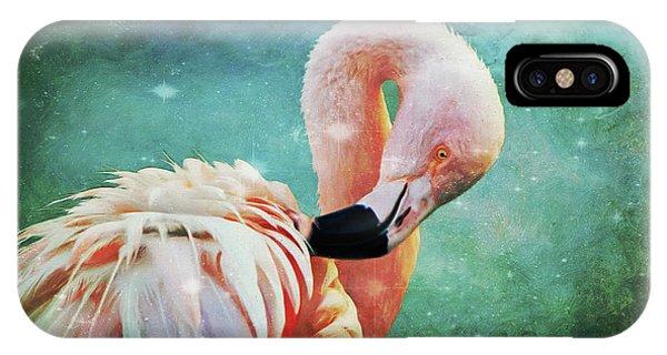 Flamingo Portrait IPhone Case