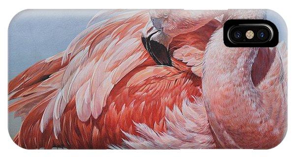 Flamingo Preening IPhone Case
