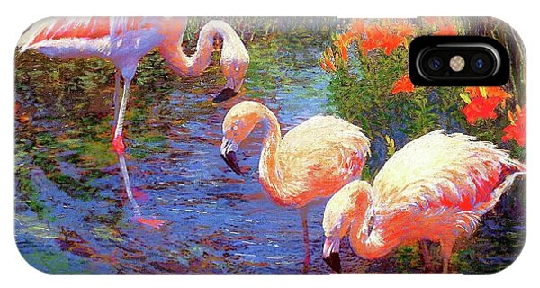Waterlily iPhone Case - Flamingo Tangerine Dream by Jane Small