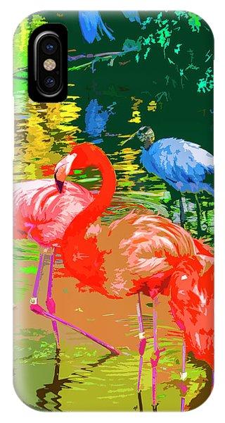 Flamingo Time IPhone Case