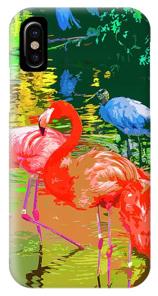 Flamingo Time IPhone Case