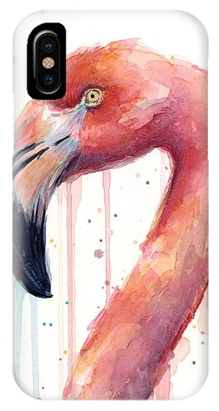 Flamingo Watercolor Illustration IPhone Case