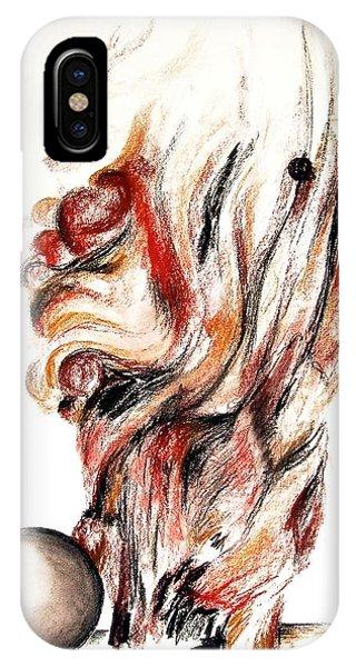 Flamme En Bois Phone Case by Muriel Dolemieux