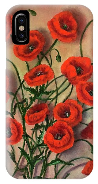 Flander Poppies IPhone Case