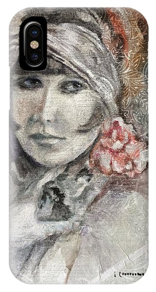Flapper With Peony IPhone Case